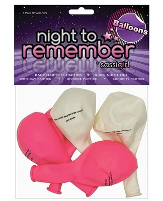 Night To Remember Balloons 5pk