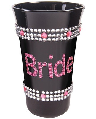 Bride Shot Glass w/Rhinestones