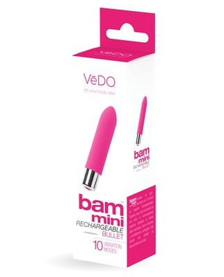 VeDO Bam Mini Rechargeable Bullet Vibe Foxy Pink