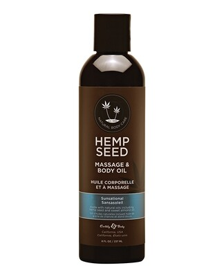 Earthly Body Massage Oil Sunsational 8 oz.