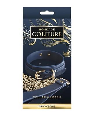 Bondage Couture Collar & Leash-Blue