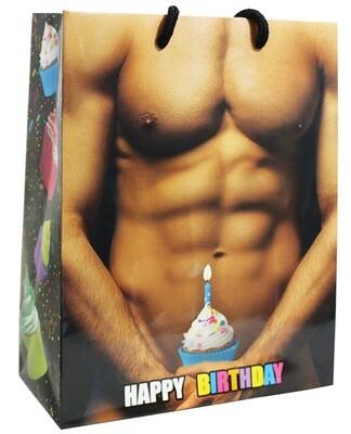 Cupcake Muscle Man Gift Bag