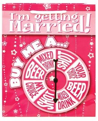 Getting Married Spinner Gift Bag