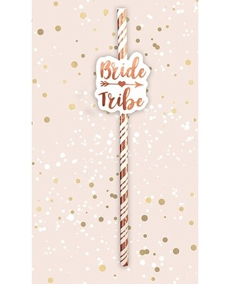 Bride Tribe Straws 6pack