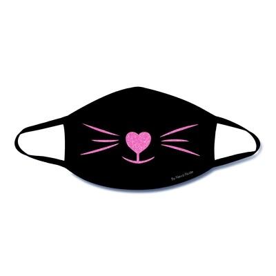 Meow Glitter Kitty Face Mask Black & Pink