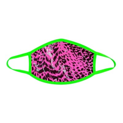 Toxic Kitty Green & Pink Face Mask