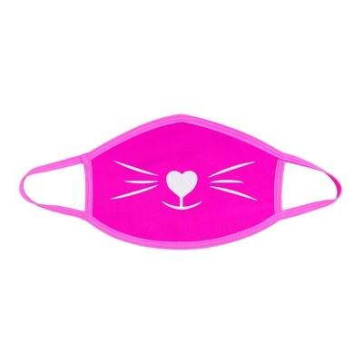 Pretty Kitty Glitter Face Mask Pink & White
