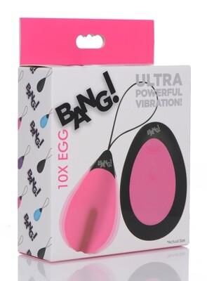Bang 10X Vibrating Egg Pink