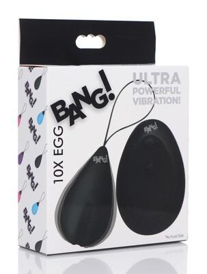 Bang 10X Vibrating Egg Black