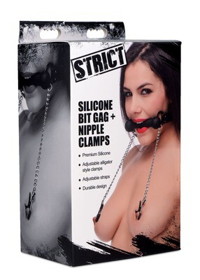 Silicone Bit Gag & Clamps