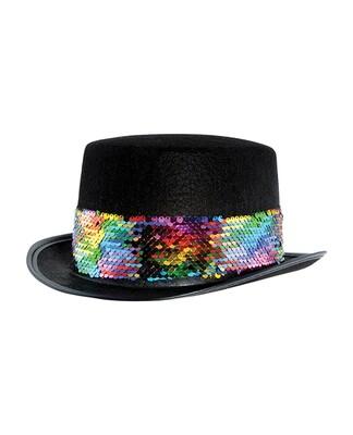 Pride Felt Topper w/ Rainbow Sequin Band