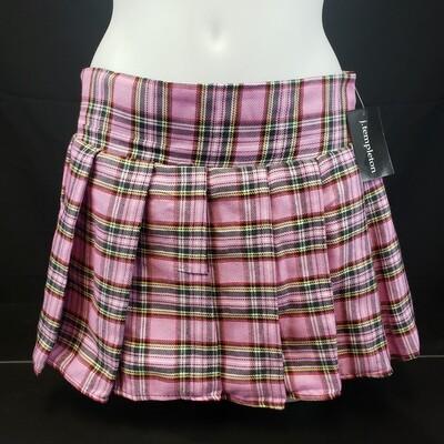 JP Pink Plaid Skirt
