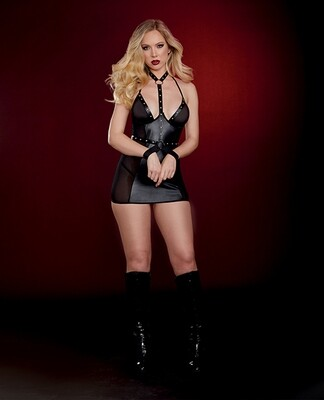 Faux Leather Chemise