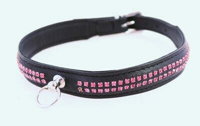 2 Row Stone Collar Pink