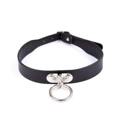 D Ring Collar Black