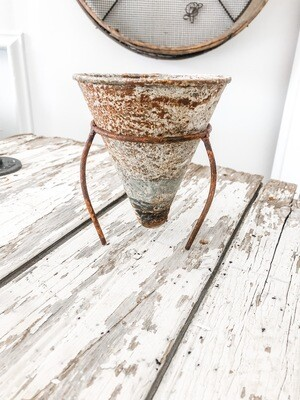 Zinc Cone Planter With Stand
