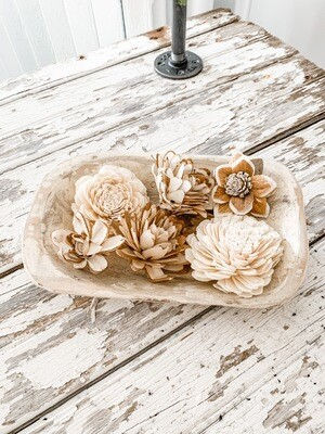 Carved Wood Flowers
