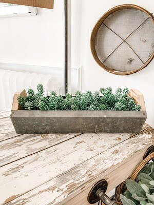 Galvanized Long Planter