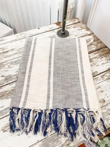 Stripe Cotton Lightweight Throw