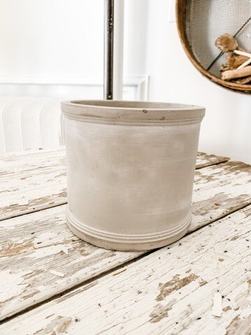 Cement Spool Planter L