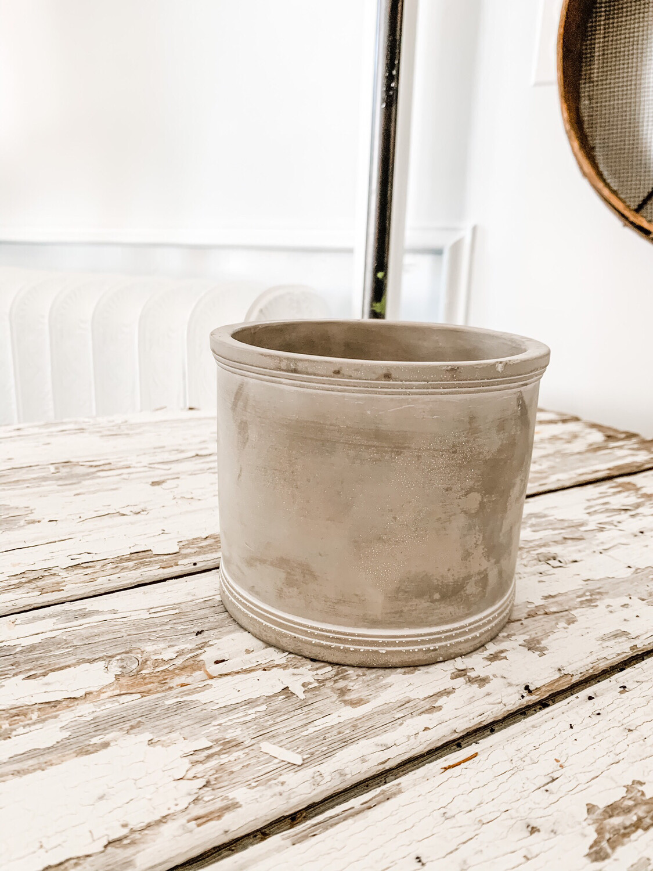 Cement Spool Planter M