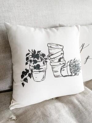 Terra-cotta Pots Pillow