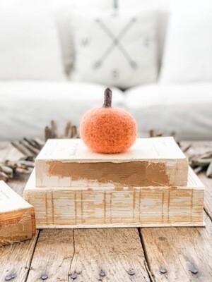 Orange Felted Pumpkin