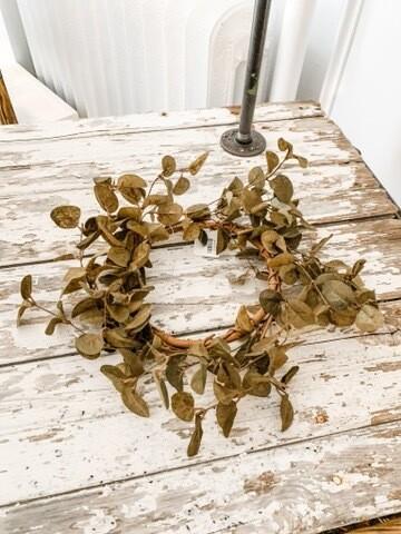 """Penny Leaf Wreath 16"""""""