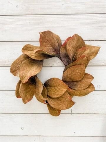 Fall Magnolia Wreath