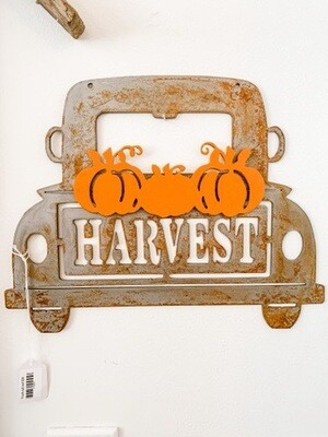 Harvest Truck Sign