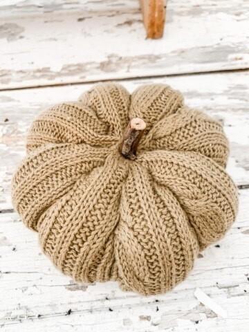 Sage Cable knit Pumpkin