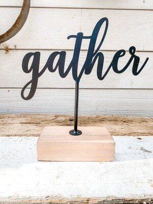 Gather Tabletop Sign