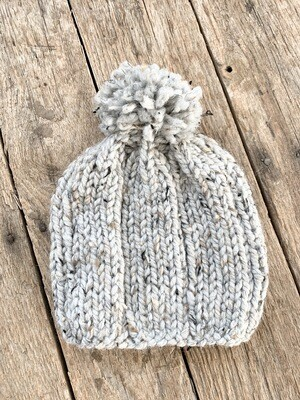Knit Hat Heather Grey