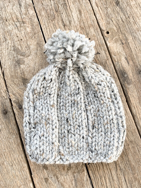 Knit Hat Heather Grey