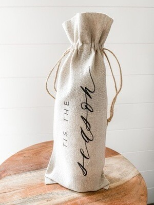 Tis The Season Wine Bottle Bag