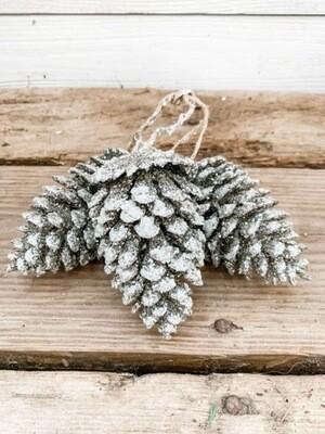Glitter Pinecone Cluster