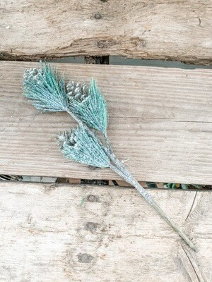 Pine & Glitter Pine Cone Pick
