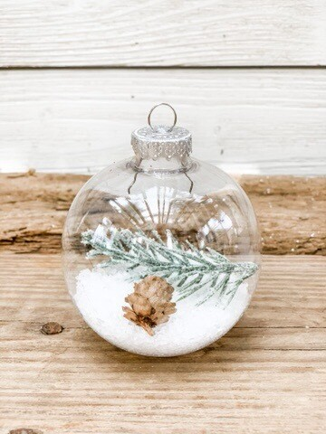 Snow filled Ornament