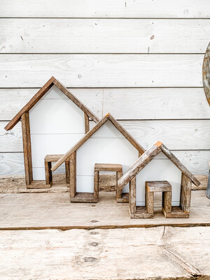 Cottage & Bloom Logo House (set of 3)