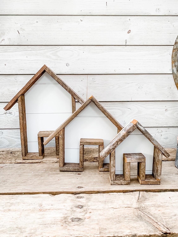 Cottage & Bloom Logo House (set of 3)