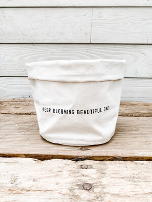 Keep Blooming Canvas Planter
