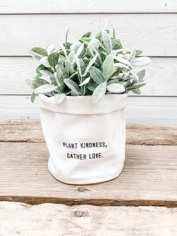 Plant Kindness Canvas Planter
