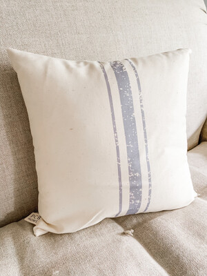 3 Stripe Grainsack Pillow grey