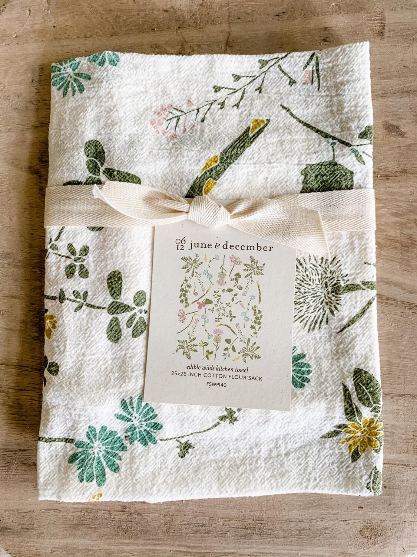 Edible Wilds Tea Towel