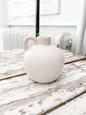 White handle vase