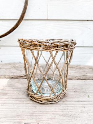 Wicker vase