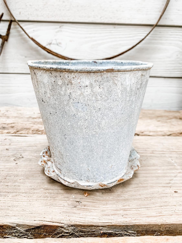 Scalloped Metal Pot