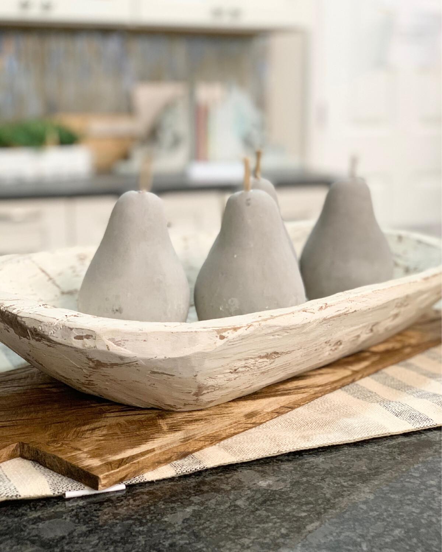 White dough bowl L