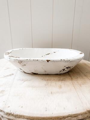 White Dough Bowl S