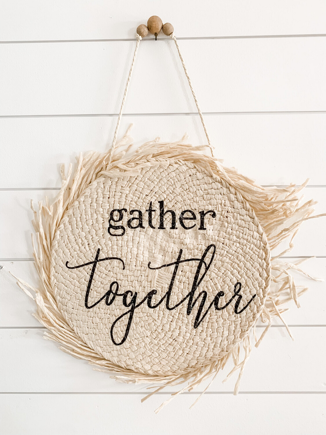 Gather Together Thatched Sign